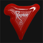 Black Carbon Raptor Red Guitar Picks